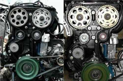 Слева 8ми клапанный ДВС, а справа 16ти клапанный